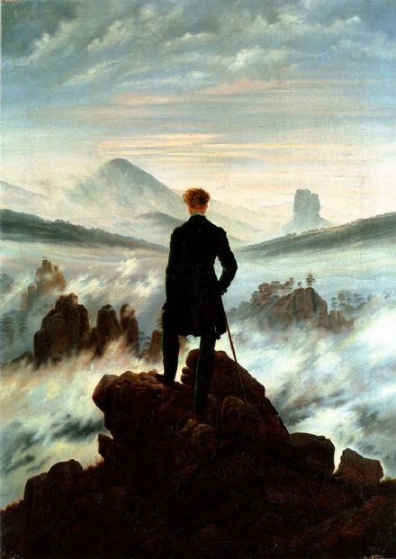 Friedrich, Casper David: The Wanderer Above the Sea of Fog. Fine Art Print.  (00261)